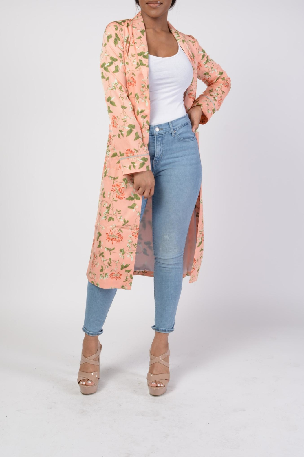 MODChic Couture Floral Robe Duster - Main Image