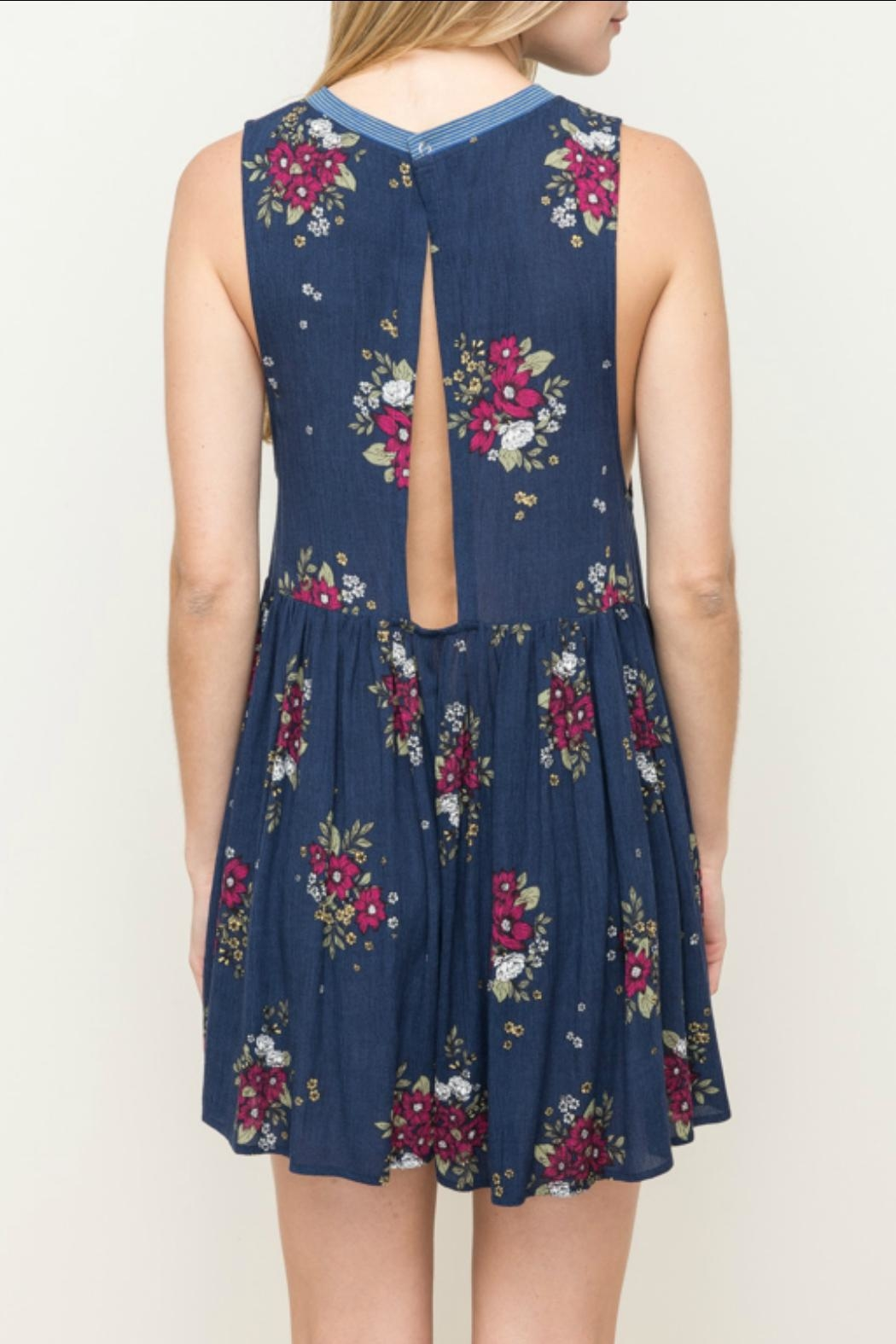 Hem & Thread Floral Romper - Side Cropped Image