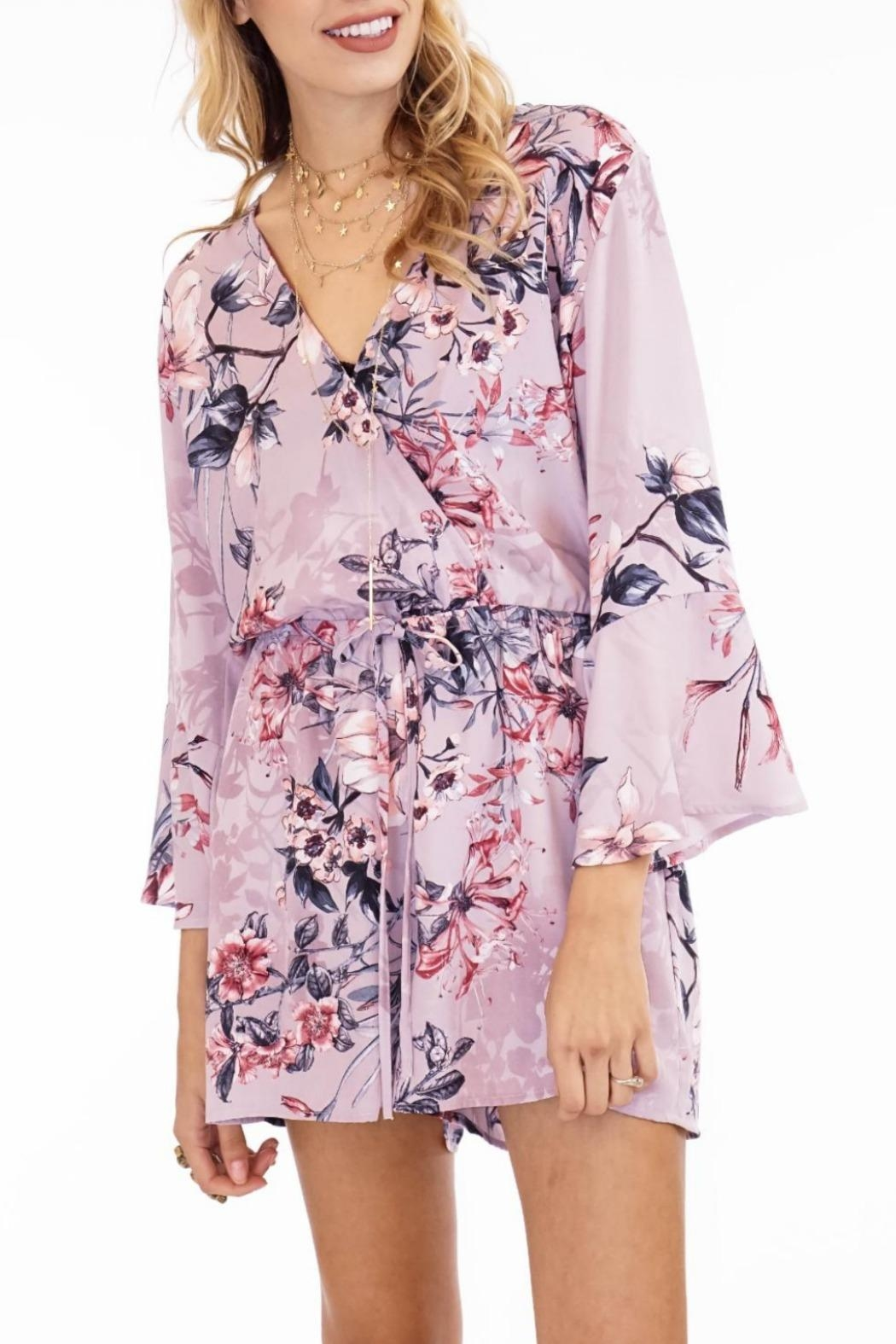 Veronica M Floral Romper - Front Cropped Image