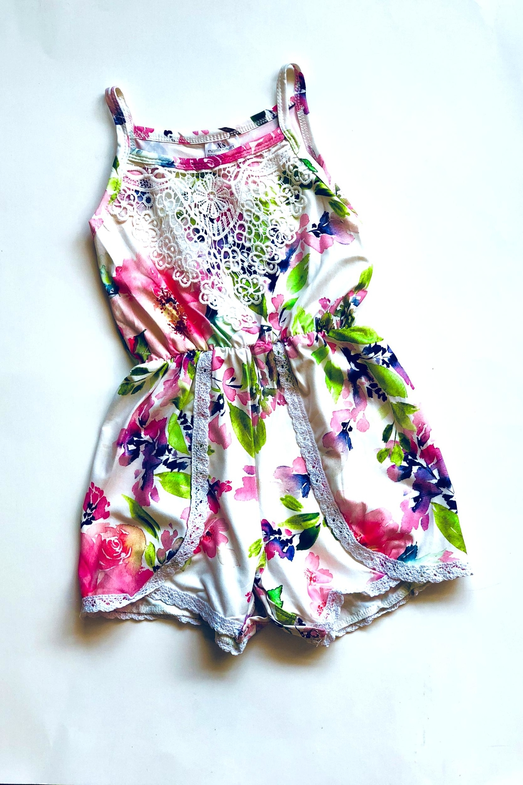 HONEYDEW Floral Romper - Front Cropped Image