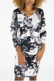 Smash  Floral Rouched Dress - Product Mini Image
