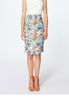 Nicole Miller Floral Ruche Skirt - Alternate List Image