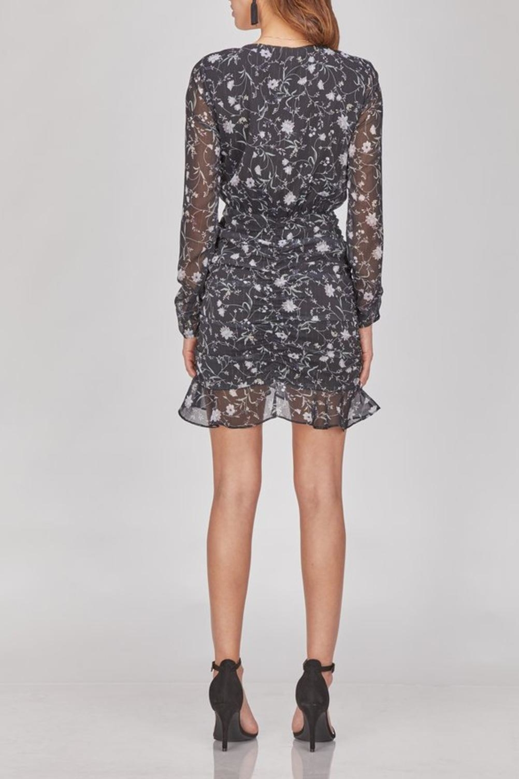 Greylin Cora Floral Ruched Dress - Front Full Image