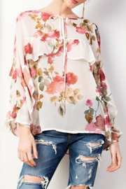 easel Floral Ruffle Blouse - Product Mini Image