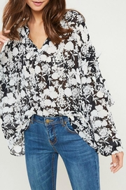 Wishlist Floral Ruffle Blouse - Product Mini Image