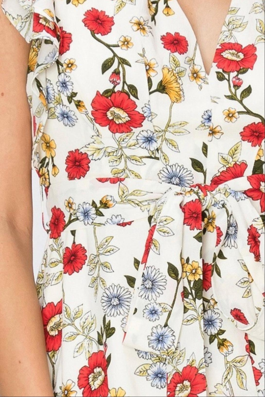 Favlux Floral Ruffle Dress - Side Cropped Image