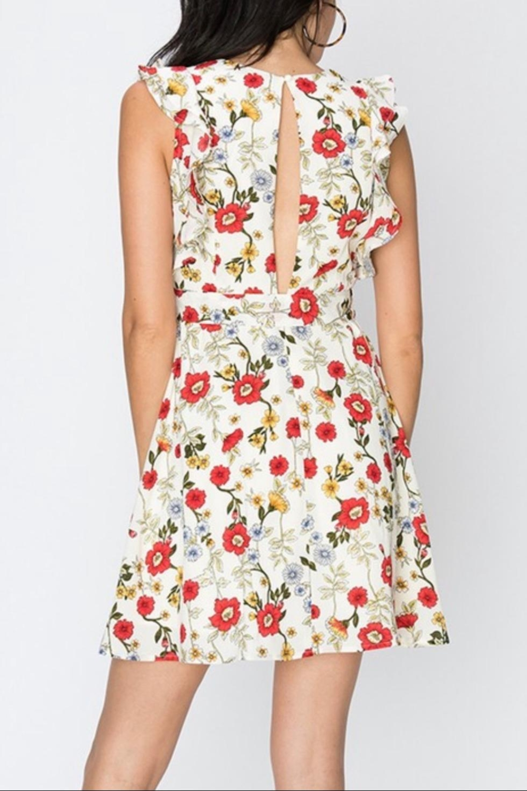 Favlux Floral Ruffle Dress - Front Full Image