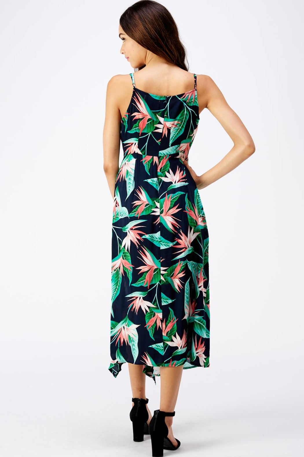 Idem Ditto  Floral Ruffle Dress - Side Cropped Image