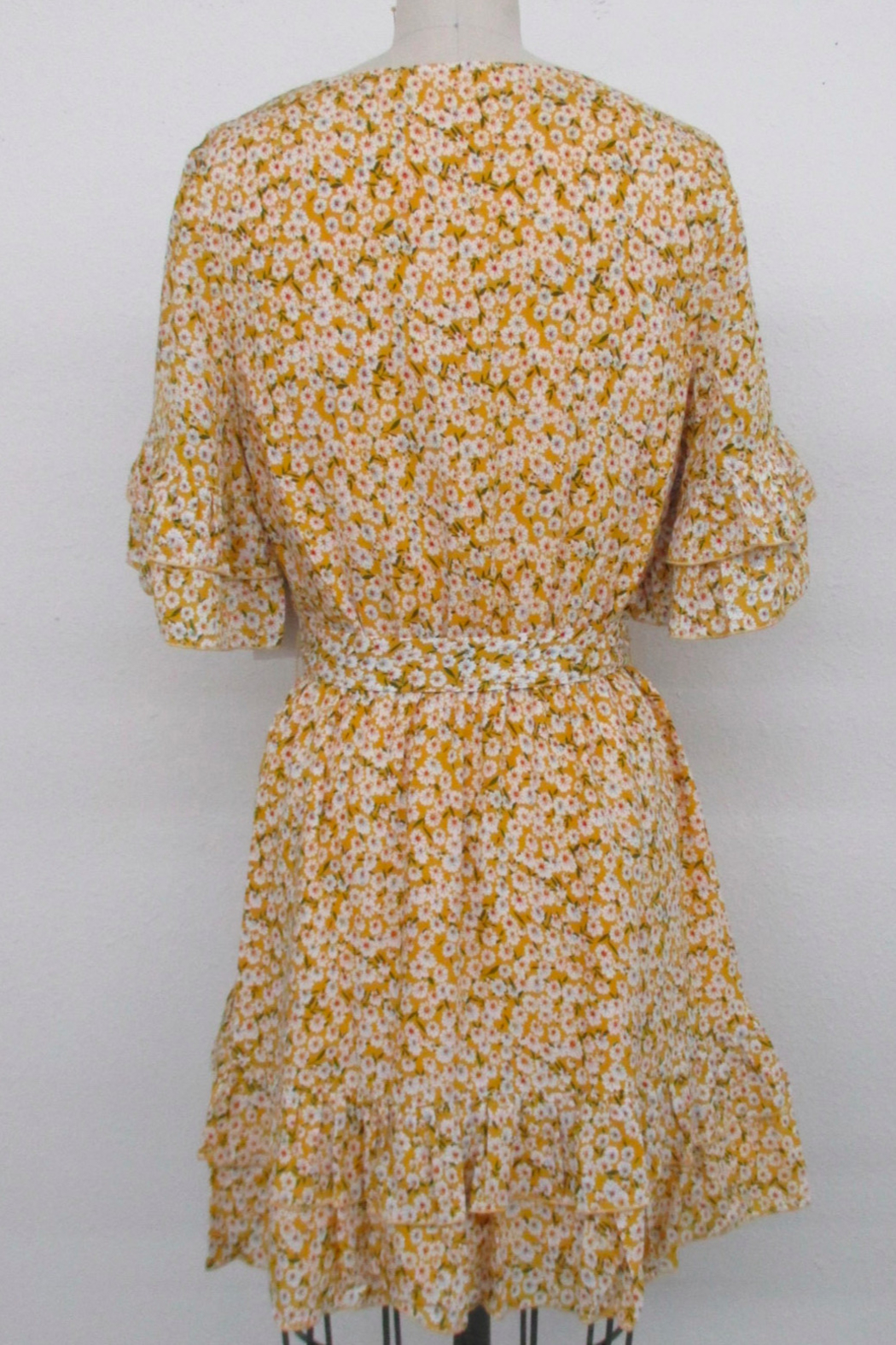 After Market Floral Ruffle Dress - Front Full Image