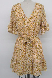 After Market Floral Ruffle Dress - Product Mini Image