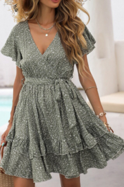 She and Sky Floral Ruffle Dress - Product Mini Image