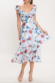 Latiste Floral Ruffle Dress - Front cropped