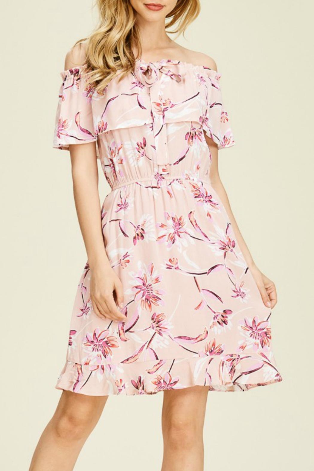 Staccato Floral Ruffle Dress - Main Image