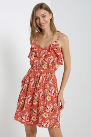 Soprano Floral Ruffle Dress - Product Mini Image
