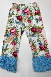 Lady's World Floral Ruffle Leggings - Front cropped