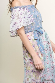 Umgee USA Floral Ruffle Maxi - Front full body