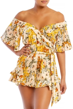 luxxel Floral Ruffle Romper - Product List Image