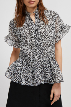 French Connection FLORAL RUFFLE SLEEVE BLOUSE - Product List Image