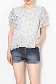 Sugar Lips Floral Ruffle Sleeve Top - Product Mini Image