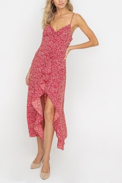 Shoptiques Product: Floral Ruffle-Slit Dress
