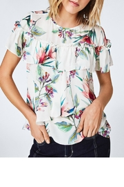 Nicole Miller Floral Ruffle Top - Product Mini Image