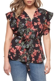 Dex Floral Ruffle Top - Product Mini Image