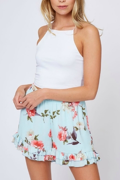 ALB Anchorage Floral Ruffle-Trimmed Shorts - Product List Image