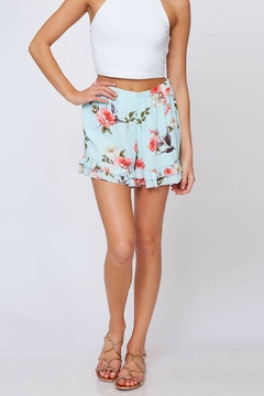 ALB Anchorage Floral Ruffle-Trimmed Shorts - Alternate List Image