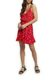 Dex Floral Ruffle Wrap-Dress - Product Mini Image