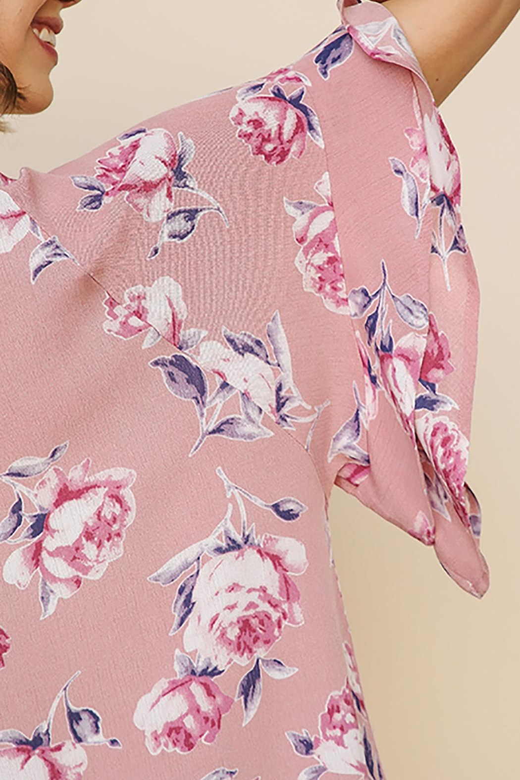 Umgee USA Floral Ruffled Top - Side Cropped Image