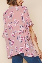 Umgee USA Floral Ruffled Top - Front full body
