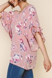Umgee USA Floral Ruffled Top - Front cropped