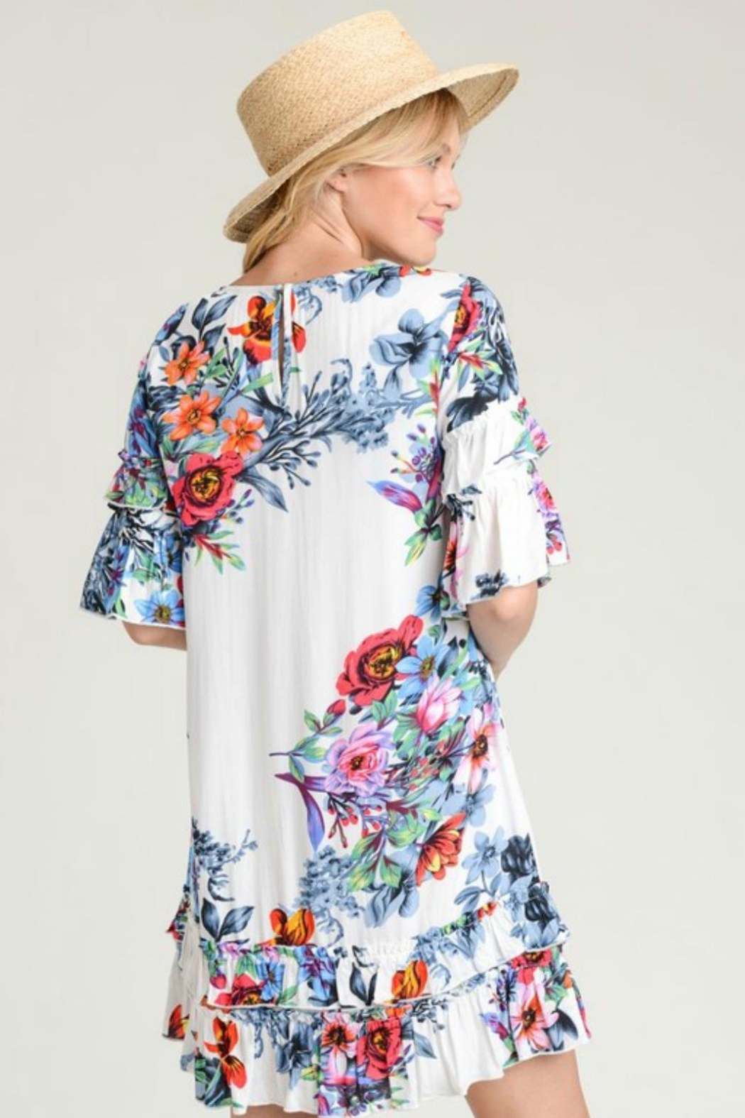 Modern Emporium Floral Ruffles - Side Cropped Image