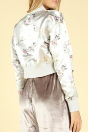 TIMELESS Floral Satin Jacket - Side cropped