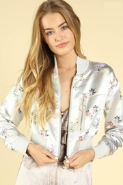 TIMELESS Floral Satin Jacket - Product Mini Image