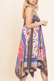 Umgee USA Floral Scarf Dress - Front full body