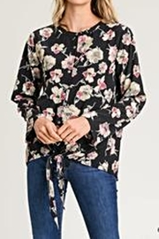 Jodifl Floral Self-Tie Blouse - Product Mini Image