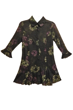 Mechant Floral Sheer Top - Product List Image