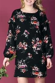 Everly Floral Shift Dress - Front full body