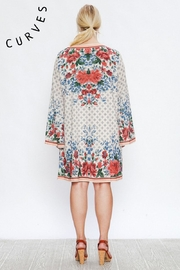 A. Calin Floral Shift Dress - Back cropped