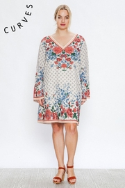A. Calin Floral Shift Dress - Front full body