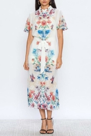 Jealous Tomato Floral Shirt Dress - Front cropped