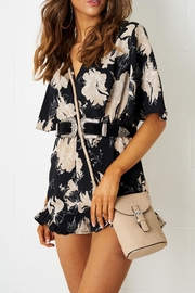 frontrow Floral Short-0sleeve Playsuit - Product Mini Image