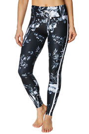 Betsey Johnson Floral Side Stripe Ankle Legging - Product Mini Image