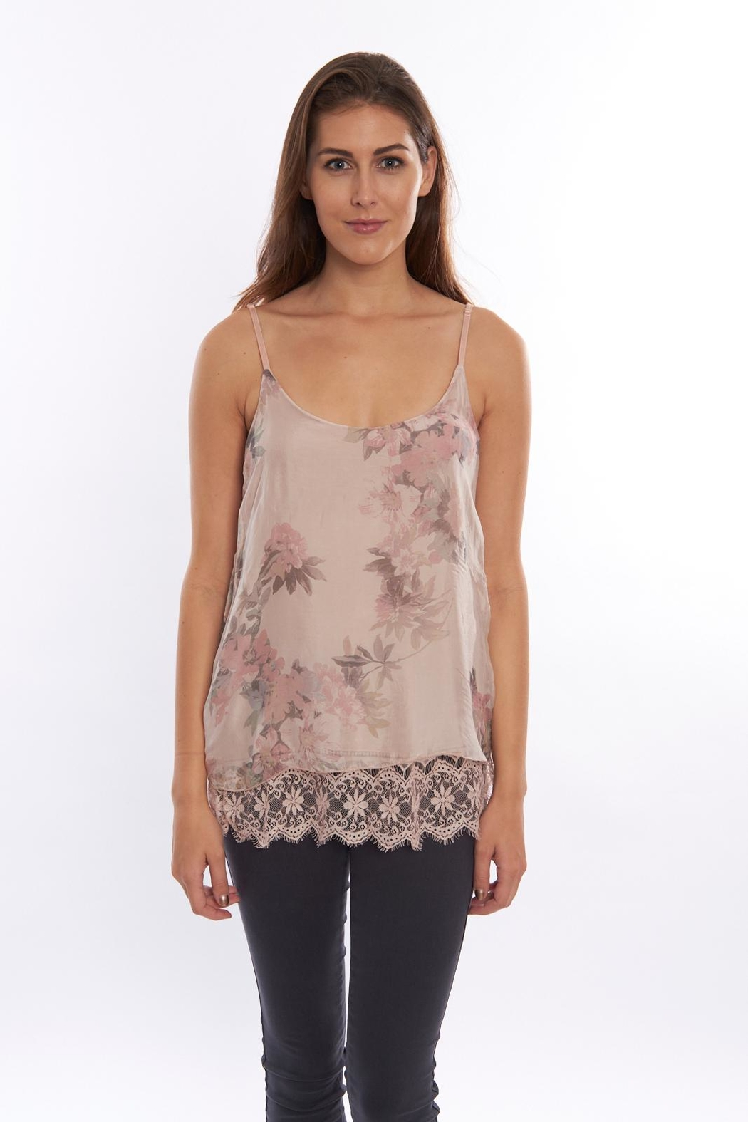 SCANDAL Floral  Silk Blouse - Front Cropped Image