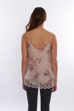 SCANDAL Floral  Silk Blouse - Alternate List Image