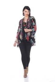 Aris A Floral Silk Cardigan - Product Mini Image