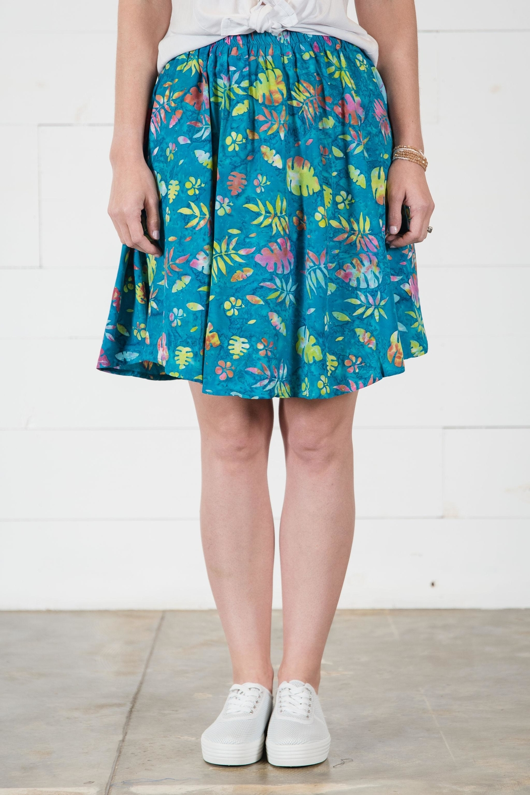 Go Fish Clothing Floral Skirt - Front Cropped Image