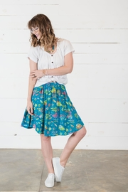 Go Fish Clothing Floral Skirt - Back cropped