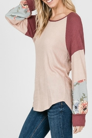 7th Ray Floral Sleeve Pullover - Front full body